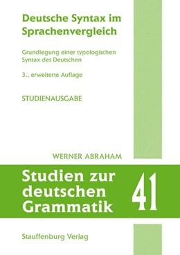 Abbildung von Abraham | Deutsche Syntax im Sprachenvergleich | 3. Auflage | 2019 | beck-shop.de