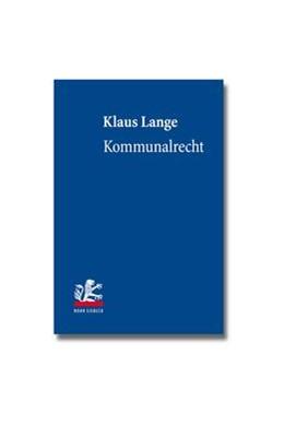 Abbildung von Lange | Kommunalrecht | 2013