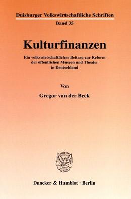 Abbildung von Beek | Kulturfinanzen. | 2002 | Ein volkswirtschaftlicher Beit... | 35