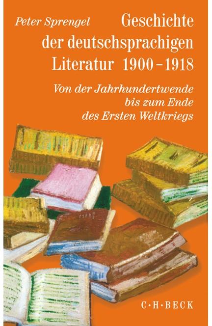 Cover: , Geschichte der deutschen Literatur  Bd. 9/2: Geschichte der deutschsprachigen Literatur 1900-1918