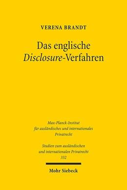 Abbildung von Brandt | Das englische Disclosure-Verfahren | 1. Auflage 2014 | 2015 | Ein Modell für Zugang zu Infor... | 332