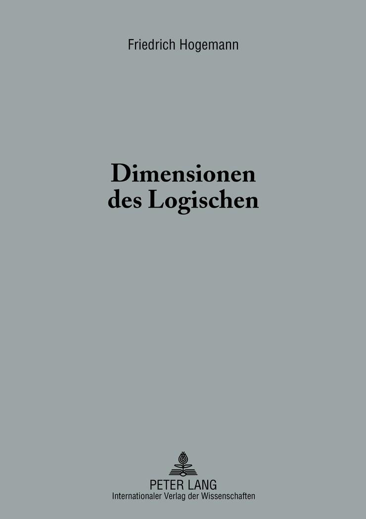 Abbildung von Hogemann | Dimensionen des Logischen | 2013