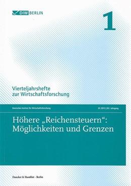 Abbildung von Vierteljahrshefte zur Wirtschaftsforschung | 82. Jahrgang (2013) | 2013 | 82. Jahrgang (2013). Heft 1: H... | 82. Band (2013), Heft 1