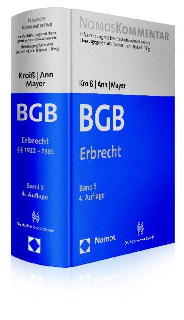Bürgerliches Gesetzbuch - BGB, Band 5: Erbrecht   Kroiß / Ann / Mayer (Hrsg.)   4. Auflage, 2014   Buch (Cover)