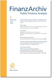 Abbildung von FinanzArchiv / Public Finance Analysis (FA) | 75. Jahrgang | 2019