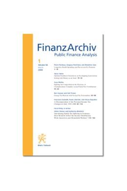 Abbildung von FinanzArchiv / Public Finance Analysis (FA) | 76. Jahrgang | 2020