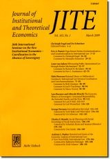 Journal of Institutional and Theoretical Economics (JITE) | Volume 174, 2013 (Cover)