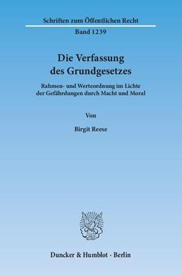 Abbildung von Reese | Die Verfassung des Grundgesetzes | 2013 | Rahmen- und Werteordnung im Li... | 1239