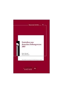 Abbildung von Sprengel / Ebermann   Statistiken zum Deutschen Stiftungswesen 2007   2007   1