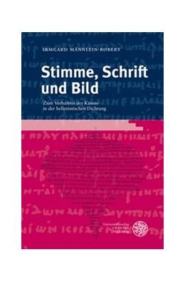 Abbildung von Männlein-Robert | Stimme, Schrift und Bild | 2007 | Zum Verhältnis der Künste in d... | 119