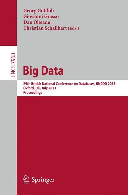 Big Data | Olteanu / Gottlob / Schallhart, 2013 | Buch (Cover)