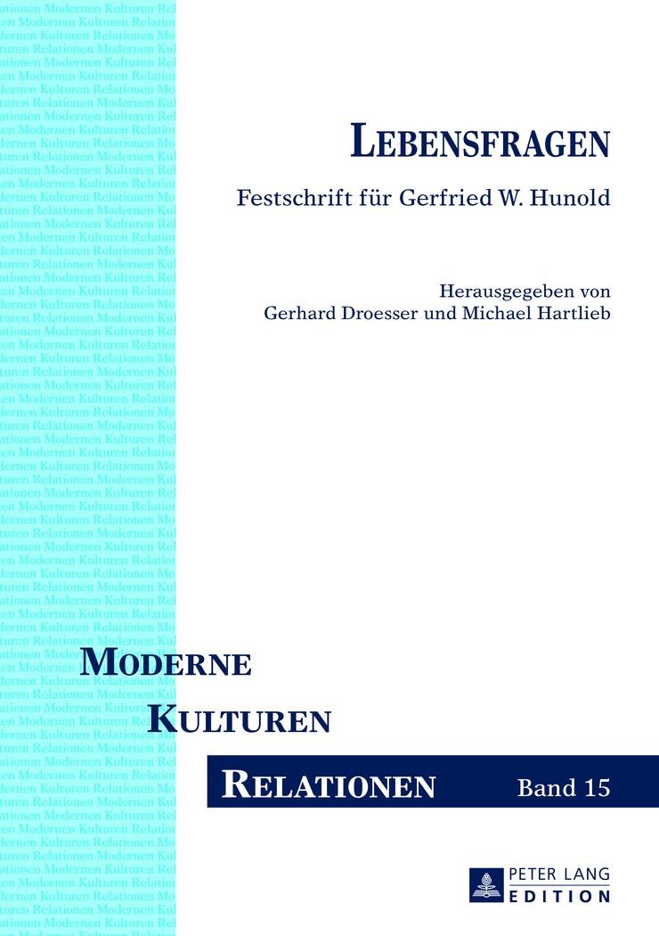 Lebensfragen | Hartlieb / Droesser, 2013 | Buch (Cover)