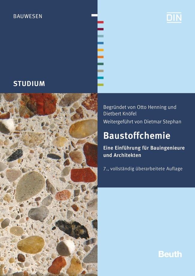 Baustoffchemie | Henning / Knöfel / Stephan | 7. vollständig überarbeitete Auflage, 2014 (Cover)