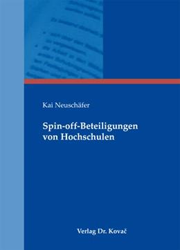 Abbildung von Neuschäfer | Spin-off-Beteiligungen von Hochschulen | 1. Auflage 2013 | 2013 | 20