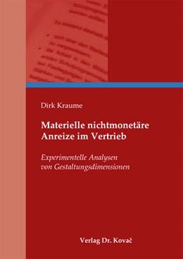 Abbildung von Kraume   Materielle nichtmonetäre Anreize im Vertrieb   1. Auflage 2013   2013   Experimentelle Analysen von Ge...   79