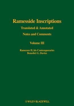 Abbildung von Davies   Ramesside Inscriptions   2013   Volume III: Ramesses II, His C...