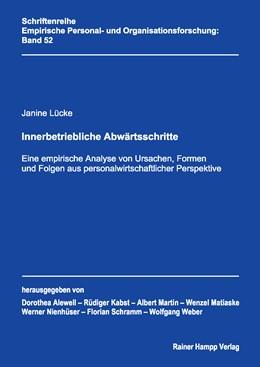 Abbildung von Lücke | Innerbetriebliche Abwärtsschritte | 1. Auflage | 2013 | 52 | beck-shop.de