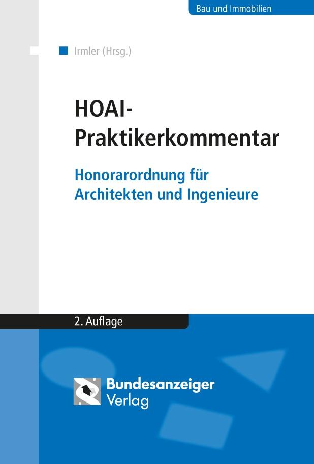 HOAI - Praktikerkommentar | Irmler / Morlock (Hrsg.) | 2., überarbeitete Auflage, 2018 | Buch (Cover)