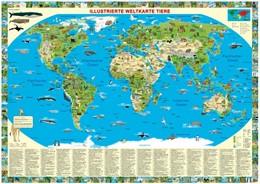Abbildung von Schönhoff / Krüger | Illustrierte Weltkarte Tiere | 1. Auflage | 2014 | Erlebniskarte