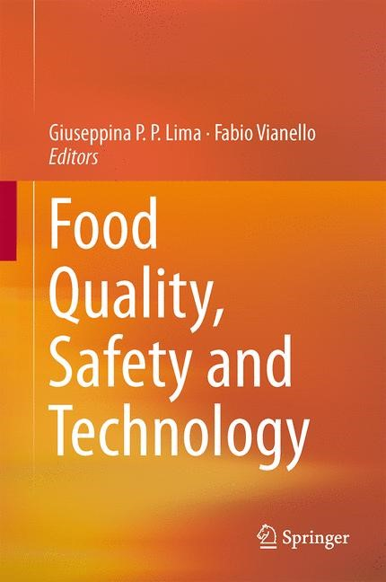 Abbildung von Lima / Vianello | Food Quality, Safety and Technology | 2013