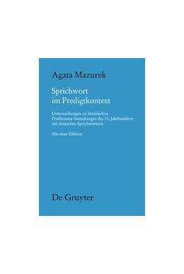 Abbildung von Mazurek | Sprichwort im Predigtkontext | 2014 | Untersuchungen zu lateinischen... | 142