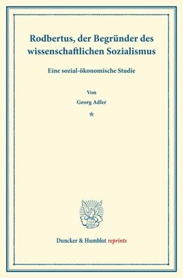 Abbildung von Adler | Rodbertus | 1. Auflage | 2013 | beck-shop.de