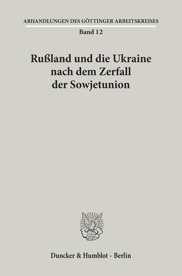 Abbildung von Rußland und die Ukraine nach dem Zerfall der Sowjetunion.   1996
