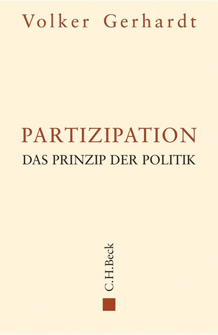 Cover: Volker Gerhardt, Partizipation