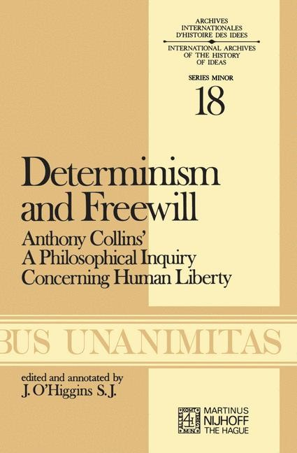 Determinism and Freewill | O'Higgins, 1976 | Buch (Cover)