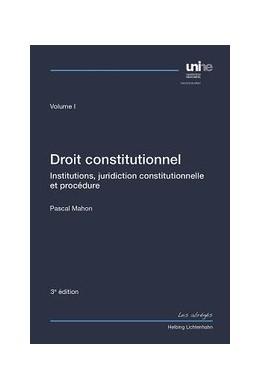 Abbildung von Mahon   Droit constitutionnel Volume I   3. Auflage   2014   beck-shop.de