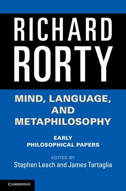 Abbildung von Rorty / Leach | Mind, Language, and Metaphilosophy | 1. Auflage | 2014 | beck-shop.de