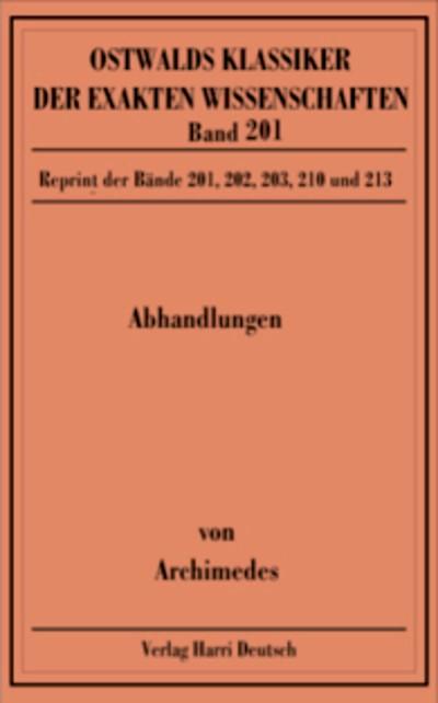 Abbildung von Abhandlungen (Archimedes)   2009