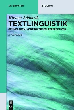 Abbildung von Adamzik   Textlinguistik   2nd completely revised, updated, and expanded new edition   2016   Eine einführende Darstellung