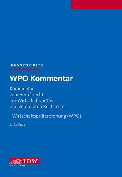 WPO Kommentar | Hense / Ulrich (Hrsg.) | 2. Auflage, 2013 | Buch (Cover)