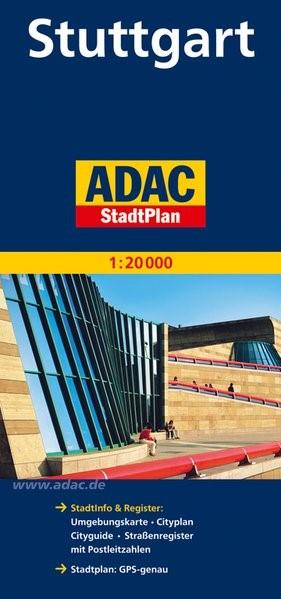 ADAC Stadtplan Stuttgart 1 : 20 000 | 8. Auflage, Laufzeit bis 2017, 2013 (Cover)