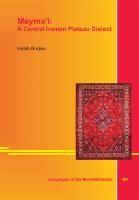 Meyma'i: A Central Iranian Plateau Dialect | Borjian, 2012 | Buch (Cover)