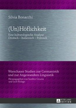 Abbildung von Bonacchi | (Un)Höflichkeit | 2013 | Eine kulturologische Analyse- ... | 13