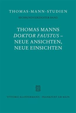 Abbildung von Detering / Marx   Thomas Manns