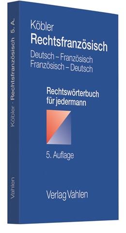 Abbildung von Köbler | Rechtsfranzösisch | 5. Auflage | 2013 | beck-shop.de