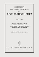 ZRG Germanistische Abteilung 130. Band (2013) | Oestmann / Rückert / Haferkamp, 2013 | Buch (Cover)