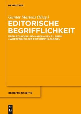 Abbildung von Martens | Editorische Begrifflichkeit | 2013 | Überlegungen und Materialien z... | 36