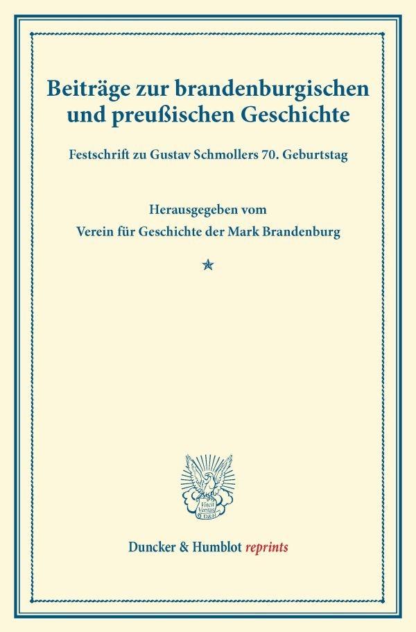 Beiträge zur brandenburgischen und preußischen Geschichte., 2013 | Buch (Cover)