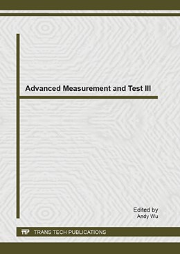 Abbildung von Wu | Advanced Measurement and Test III | 2013 | Selected, peer reviewed papers... | Volumes 718-720