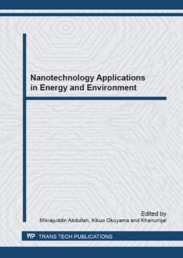 Abbildung von Abdullah / Okuyama | Nanotechnology Applications in Energy and Environment | 1. Auflage | 2013 | Volume 737 | beck-shop.de