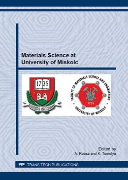 Abbildung von Ro?sz / Tomolya | Materials Science at University of Miskolc | 1. Auflage | 2013 | Volume 752 | beck-shop.de