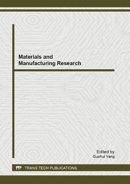 Abbildung von Yang | Materials and Manufacturing Research | 2013 | Selected, peer reviewed papers... | Volume 658