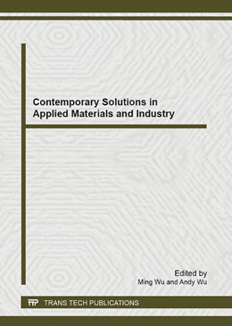 Abbildung von Wu | Contemporary Solutions in Applied Materials and Industry | 2013 | Selected, peer reviewed papers... | Volume 680
