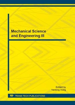 Abbildung von Wang | Mechanical Science and Engineering III | 1. Auflage | 2013 | Volume 328 | beck-shop.de