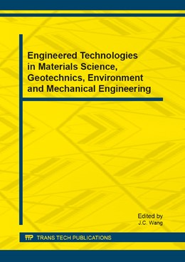 Abbildung von Wang   Engineered Technologies in Materials Science, Geotechnics, Environment and Mechanical Engineering   1. Auflage   2013   Volume 310   beck-shop.de