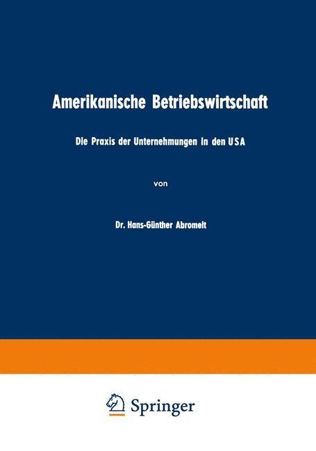Amerikanische Betriebswirtschaft | Abromeit, 1953 | Buch (Cover)